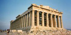 Acropolis: The Greek Parthenon, Greece Parthenon Greece, Athens Acropolis, Athens Greece, Famous Buildings, Famous Landmarks, Famous Places, Places Around The World, Oh The Places You'll Go, Travel Around The World