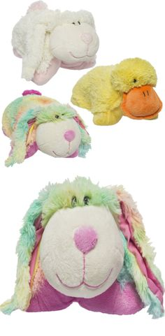 Pillow Pet Pee-Wees Plush Animals. Use it as a pillow and a lovable stuffed animal pal. These critters are super huggable due to their soft plush fur. A perfect travel companion. Rest your head or fold them up to give them a good squeeze.  #easter #eastergift #plushtoy #stuffedtoys #afflink
