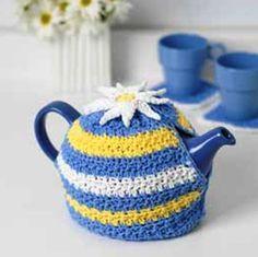 Crocheted Daisy Tea cozy pattern 13.10.2014