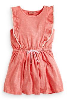 Frill Sleeve Dress (3-16yrs) (905705G30) | £10.50 - £15.50