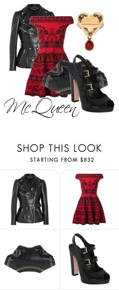 """""""McQueen"""" by cheeseburger-jones ❤ liked on Polyvore featuring Alexander McQueen"""