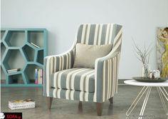 Πολυθρόνα Magic με μοντέρνα ρίγα Armchair, Decor, Furniture, Sofa, Home, Interior, Wingback Chair, Accent Chairs, Home Decor