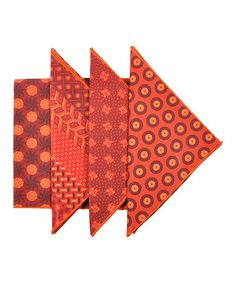 Another great find on #zulily! Red South African ShweShwe Napkin Set #zulilyfinds