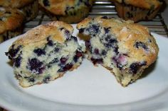 Mimi's Huge Blueberry Muffins from Food.com:   A prominent department store used to sell these in their bakery case. These are big muffins loaded with blueberries. They are nice and sweet. All I can say about them is to try them--they are great. I like to use our Maine blueberries as there is a lot of flavor, but any wild blueberry will be fine.