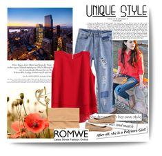 """""""Romwe 3/10"""" by elmahaskic ❤ liked on Polyvore featuring moda, Elisabetta Franchi i romwe"""