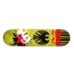 Skate Initials Eagle Yellow Black Red