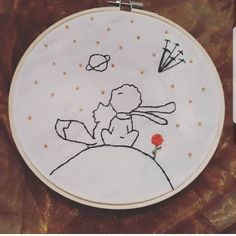 Little prince embroidery - Flower Embroidery Designs, Creative Embroidery, Hand Embroidery Patterns, Diy Embroidery, Cross Stitch Embroidery, Cross Stitch Patterns, Cross Stitching, Needlework, Creations