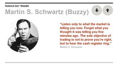 Another famous trading quote - from Martin S. Schwartz (Buzzy)