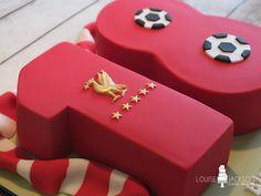 18th birthday cake with Liverpool Football theme