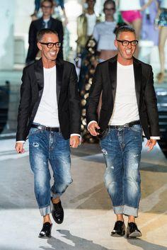 Más vestidos para ti: Dsquared2 Milan Fashion Week Primavera Verano 201...