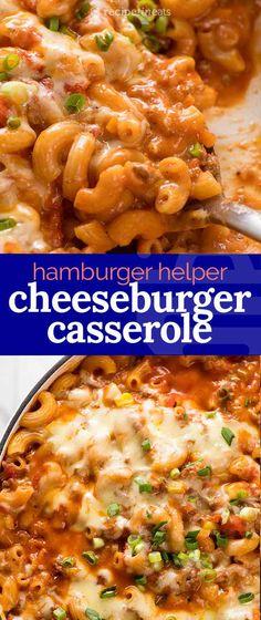 Cheeseburger Casserole, Beef Casserole, Casserole Dishes, Casserole Recipes, Hamburger Casserole With Noodles, Creamy Pasta Recipes, Pasta Dinner Recipes, Pasta Dinners, Beef Macaroni
