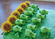 Plants vs Zombies cake decorations, Maybe for Alex's birthday.  His new favorite game.