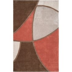 Art of Knot Detroit Polyester Area Rug, Brown