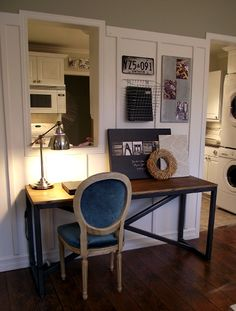 Mini Home Office in the Dining Room