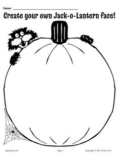 Create A Coloring Page Free Beautiful Create Your Own Jack O Lantern Free Printable – Supplyme Halloween Worksheets, Halloween Activities, Autumn Activities, Halloween Fun, Halloween Printable, Learning Activities, Halloween Decorations, Pumpkin Coloring Pages, Halloween Coloring Pages