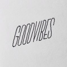 goodvibe, handlettering, typography