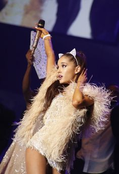 Ariana Grande Is A Hyper Sexy Black And White Kitten While Performing At The Forum In Milan - http://oceanup.com/2015/05/26/ariana-grande-is-a-hyper-sexy-black-and-white-kitten-while-performing-at-the-forum-in-milan/