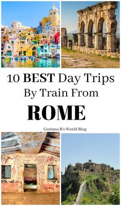 The Best Day Trips From Rome By Train. Are you basing your Italy trip from Rome? Or maybe staying there for a few nights? Here are some really fabulous day trips that you can take from Rome by train. They are easy, inexpensive, as well as both fun and exc By Train, Italy Travel Tips, Rome Travel, Travel Europe, Travelling Europe, Budget Travel, Italy Vacation, Italy Trip, Blue Dream