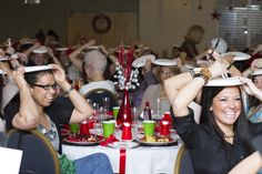 Fun game to play with a small or large group during a holiday party. And they don't even need to get out of their seat.