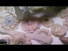 DIY Vintage-look Tattered Flowers ~ these would be lovely heritage page embellishments! ~ YouTube Tutorial