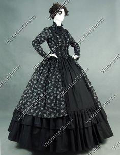 Renaissance Gothic Victorian Period Dress Reenactment Theatre Clothing