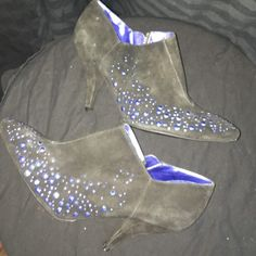 Sigerson Morrison for Target Booties Great shoe. Great shape. Never worn. No scuffs tears etc. Brand blacked out slightly inside as indicated. Any questions. Please ask. Sigerson Morrison Shoes Ankle Boots & Booties