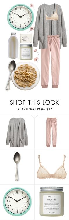 """morning #7"" by mavicardenas on Polyvore featuring moda, H&M, J.Crew, Eberjey y Très Pure"
