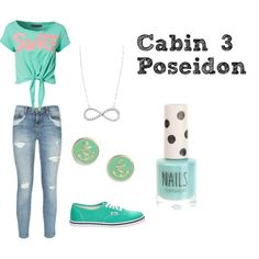 """Cabin 3: Poseidon"" by skippy-skippers on Polyvore"