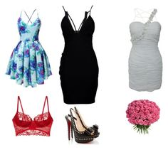 """""""Мое любимое"""" by kruchinenko ❤ liked on Polyvore featuring Topshop, Boohoo and Christian Louboutin"""