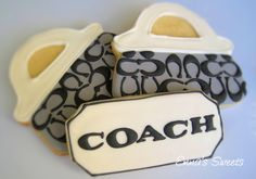 Coach purse cookies