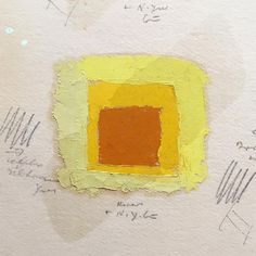 Josef Albers ::: three color studies for Homage to the Square ::: oil on blotting paper with varnish