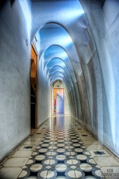 Antoni Gaudi's interior of Casa Batlló, Barcelona....Gorgeous!