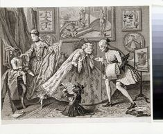 1746, A Taste in High Life by William Hogarth, at the V&A Museum number: F.118:129
