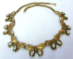 Vintage Joseff of Hollywood Butterfly Rhinestone Necklace | eBay $285