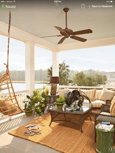 Calm and comfy porch idea