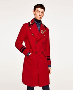 Image 2 of RED MILITARY COAT from Zara