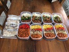 Chicken teriyaki, burrito bowls and oatmeal for the week : MealPrepSunday