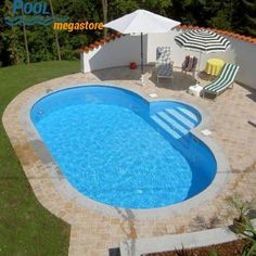 Stahlwandbecken oval 486 x 250 x 150 cm Steel wall basin oval 150 cm deep Above Ground Pool, In Ground Pools, Steel Wall, Pool Designs, Jacuzzi, Backyard Landscaping, Basin, Stepping Stones, Outdoor