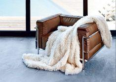 Frontansicht von Plaid Tibetlamm in Ivory Off White Off White, Ivory, Plaid, Blanket, Design, Fluffy Rug, Cuddling, Home Accessories, Chess