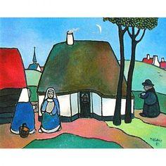 schilderij toon tieland Dutch Artists, Naive Art, Landscape Art, Folk Art, Cool Pictures, Drawings, Book Illustration, Writers, Blessed
