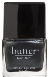 Chimney Sweep Nail Lacquer ~ A proper charcoal grey with a touch of a metallic finish ~ Butter London