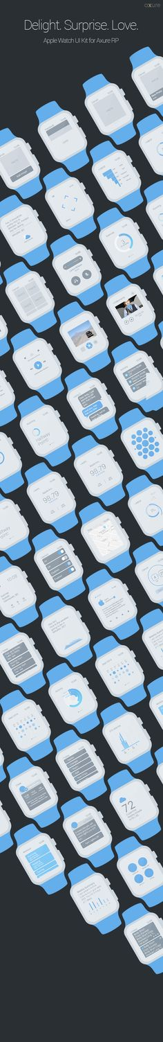 Apple Watch UI Kit and Widget Library for Axure RP