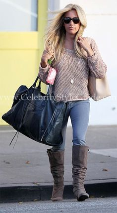 Ashley Tisdale Style and Fashion - Free People Sahara Star Sweater - Celebrity Style Guide