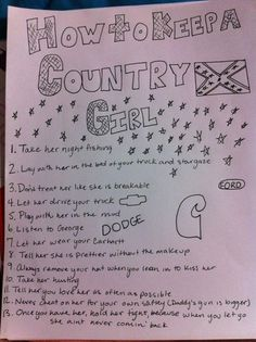 how to keep a country girl