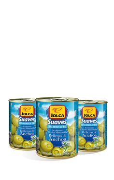 Rellenas con anchoa suave 3x125 ml #aceitunasrellenas #anchoa #Jolca