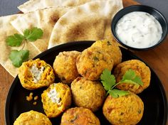 Sweet Potato Falafel Stuffed With Boursin Black Pepper by Marcus Bean