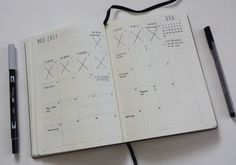 March Bullet Journal Bujo Monthly Over Month Grid Calendar Planner Planning