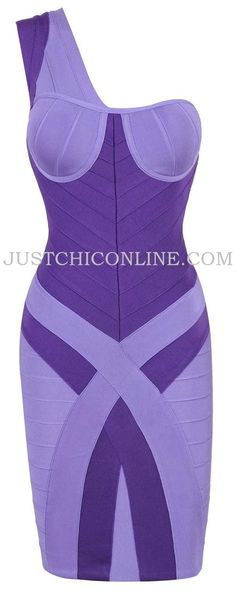 "The ""Kimbery"" Lilac One Shoulder Bandage Dress. Made with high quality luxury bandage fabric. $159.00"