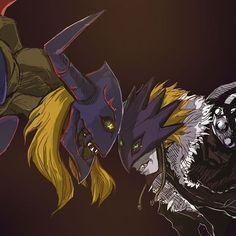 Diaboromon and Beelzemon Blast mode
