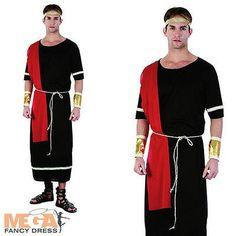 Julius Caesar Mens Roman Emperor Fancy Dress Toga Adult Greek Grecian Costume